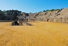 L'amphitheatre d'Italica Images libres de droits