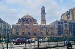 L'ampio viale a Il Cairo Fotografie Stock Libere da Diritti