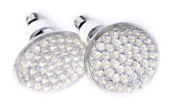 l'ampoule a abouti plus neuf léger Images libres de droits