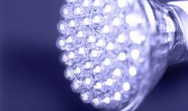 l'ampoule a abouti plus neuf léger Photo stock