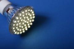 l'ampoule a abouti plus neuf léger photo libre de droits
