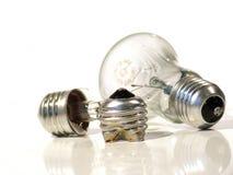 L'ampoule brûlée. Lampe. Image libre de droits