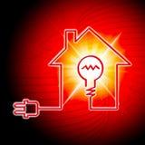 L'ampoule signifie la source d'énergie et lumineux Photographie stock libre de droits
