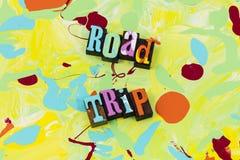 L'amusement d'exploration de carte de voyage d'aventure de voyage par la route apprennent illustration stock