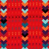 L'amusement et l'art indigène tiré par la main coloré de tribu conçoivent avec le vecteur sans couture de modèle de motifs africa Image stock