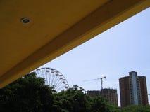 L'amusement roulent le parc dedans abandonné Images libres de droits