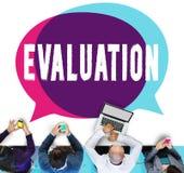 L'analyse de considération d'évaluation critiquent le concept analytique Photo libre de droits