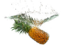 L'ananas éclabousse Images libres de droits