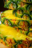 l'ananas a découpé en tranches image libre de droits