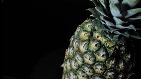 L'ananas tourne sur le fond blanc clips vidéos