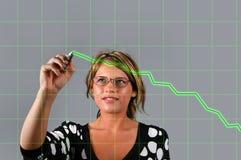 L'ANC de femme d'affaires dressent une carte Images libres de droits