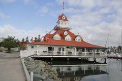 L'ancien hangar à bateaux historique de Del Coronado d'hôtel sur l'île de Coronado Image stock