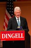 L'ancien Président Bill Clinton au rassemblement de Dingell Image stock