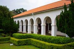 L'ancienne résidence de fonctionnaires des douanes de Tamsui de vieille maison coloniale a surnommé peu de Maison Blanche chez Ta image libre de droits