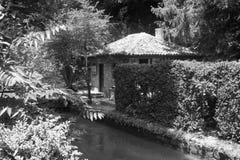 L'ancienne résidence de la reine roumaine, le jardin botanique Balchik photographie stock
