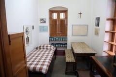 L'ancienne salle de Mère Teresa à la Chambre de mère dans Kolkata Images stock