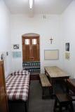 L'ancienne salle de Mère Teresa à la Chambre de mère dans Kolkata Image stock