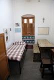 L'ancienne salle de Mère Teresa à la Chambre de mère dans Kolkata Photographie stock libre de droits