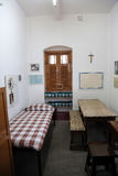 L'ancienne salle de Mère Teresa à la Chambre de mère dans Kolkata Photos stock