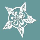 L'ancolie de fleur, laser la fleur coupée, calibre pour couper, l'élément de design de carte, cadeau la Saint-Valentin, lettre d' photos stock