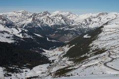 L'Andorra - corsa con gli sci Fotografia Stock Libera da Diritti
