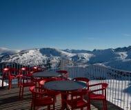 L'Andorra - corsa con gli sci Immagine Stock