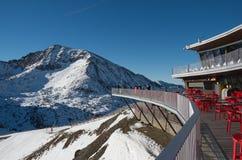 L'Andorra - corsa con gli sci Immagini Stock