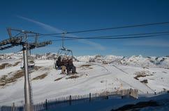 L'Andorra - corsa con gli sci Fotografie Stock Libere da Diritti