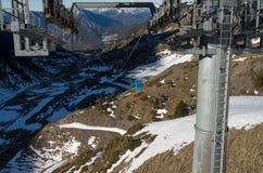 L'Andorra - corsa con gli sci Fotografia Stock