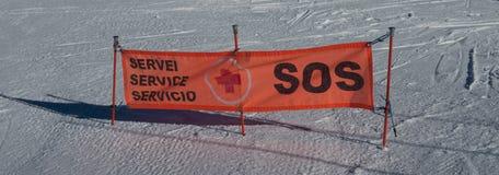 L'Andorra - corsa con gli sci Immagini Stock Libere da Diritti