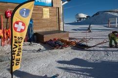 L'Andorra - corsa con gli sci Immagine Stock Libera da Diritti