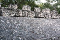 L'anello di pietra dal lato pendente della corte della palla al Co maya Immagini Stock Libere da Diritti