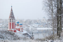 L'anello dorato della Russia Oblast Tutaev di Yaroslavl Chiesa di Kazan della trasfigurazione Fotografia Stock