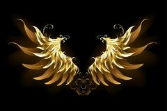 L'ange brillant s'envole les ailes d'or illustration stock