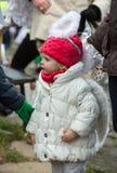 L'ange de hiver-festival dans la ville de province Photographie stock libre de droits