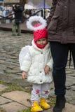 L'ange de hiver-festival dans la ville de province Photos stock