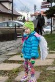 L'ange de hiver-festival dans la ville de province Images libres de droits