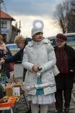 L'ange de hiver-festival dans la ville de province Image libre de droits