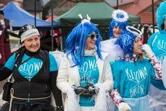 L'ange de hiver-festival dans la ville de province Photos libres de droits