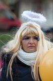 L'ange de hiver-festival dans la ville de province Photo stock