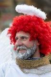 L'ange de hiver-festival dans la ville de province Photo libre de droits