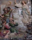 L'ange du seigneur a rendu visite aux bergers et les a informés de la naissance de ` de Jésus Image libre de droits