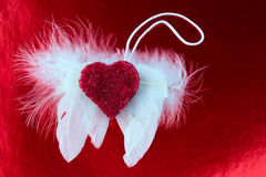 L'ange s'envole la photo modifiée la tonalité par amour de coeur Photo libre de droits