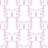 L'ange s'envole le modèle rose blanc sans couture Photographie stock libre de droits