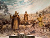L'angelo del signore hanno visitato i pastori e informato loro del JES Fotografie Stock Libere da Diritti