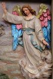 L'angelo del signore hanno visitato i pastori e informato loro della nascita del ` di Gesù immagini stock