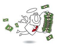 L'angelo di affari porta i soldi Fotografia Stock Libera da Diritti