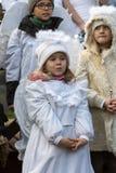 L'angelo di inverno-festival nella città di provincia Fotografie Stock Libere da Diritti