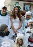 L'angelo di inverno-festival nella città di provincia Fotografia Stock Libera da Diritti