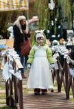 L'angelo di inverno-festival nella città di provincia Immagine Stock